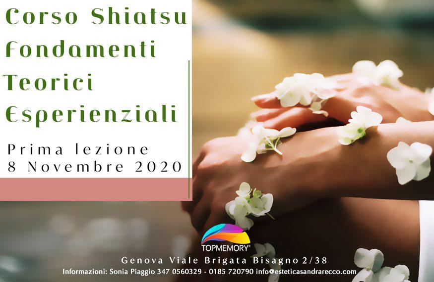 CORSO SHIATSU FONDAMENTI TEORICI ESPERIENZIALI - 11 Ottobre 2020